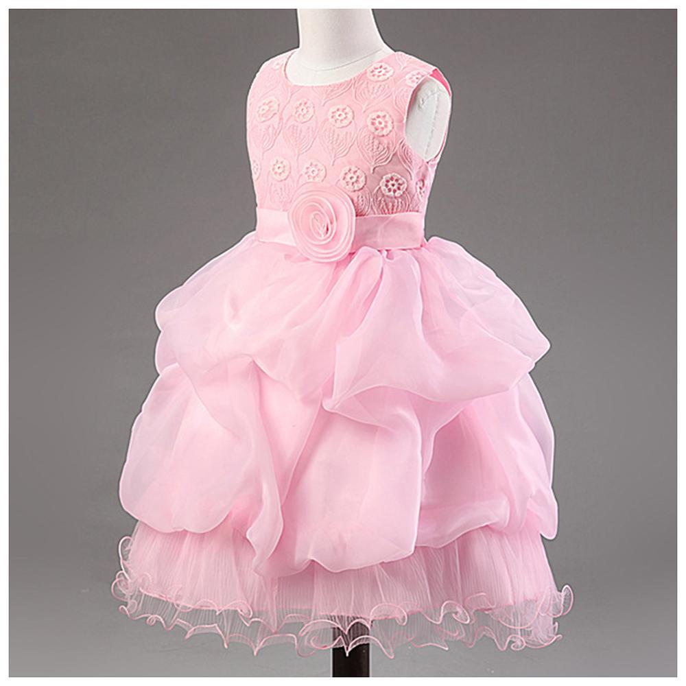Girls Dress Summer Girls Party Bow Dress Sleeveless Kids Teenagers Prom Ceremonies Ball Gowns Tutu Princess Dress in Dresses from Mother Kids