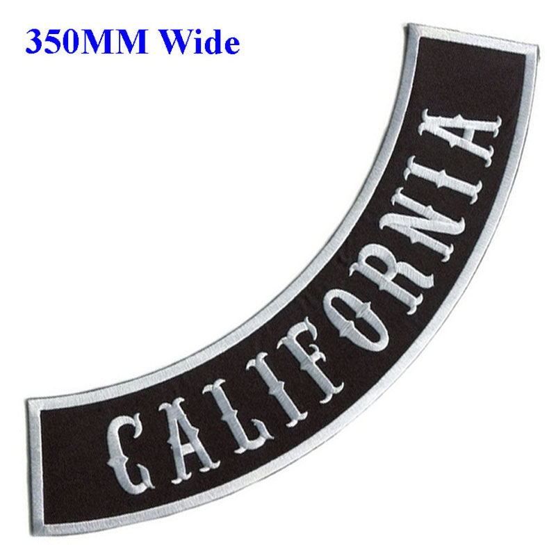 BRAND NEW CALIFORNIA STATE ROCKER BIKER IRON ON PATCH