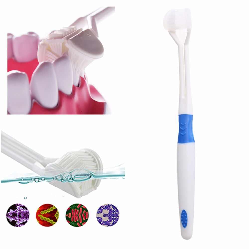 1x zdrowie dzieci szczotka do zębów trzy klosze 3 stronna szczoteczka do zębów najdrobniejszych miękkie włosie