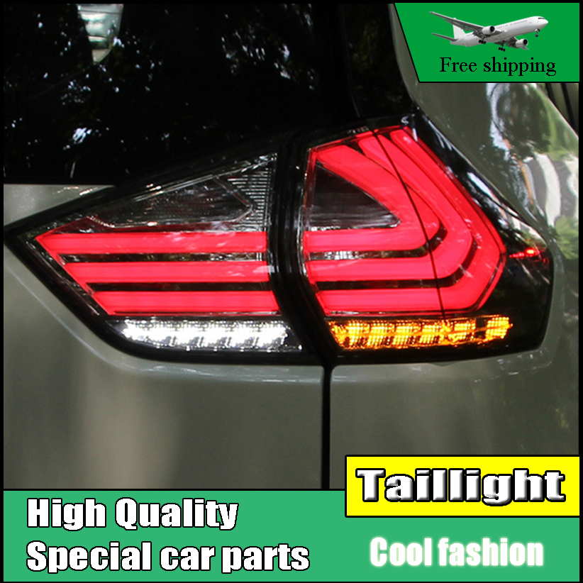 Car Styling Taillight Case For Nissan X-Trail Rouge 2014-2016 Taillights LED Tail Lamp Rear Lamp DRL+Brake+Park+Signal light car styling taillight case for mitsubishi asx 2013 2014 2015 taillights led tail lamp rear lamp drl brake park signal light