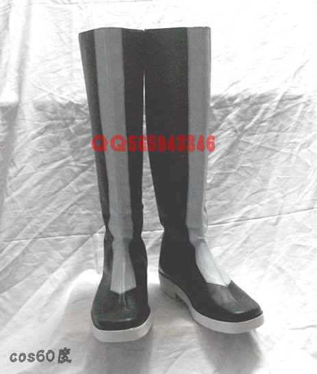 Vocaloid Kamui Gakupo Gackpoid Black Cosplay Shoes Boots S008