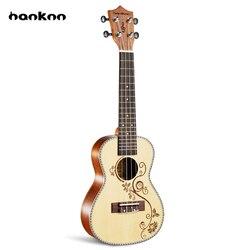 Hanknn 23 pouce Ukulele Artisanat Adulte Enfants Professionnel À Cordes Acoustique Guitare Instrument de musique Voyage Hawaii Ukulélé Uke