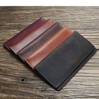 2018 Luxury Genuine Leather Wallet Bifold Men Long Business Slim Cow s Clutch Bag Male Card ID Money Purse