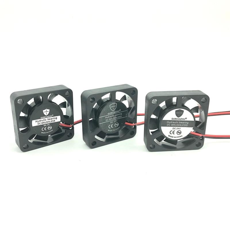 Fan 40mm 4010 24V 12V 5V Fluid Bearing 4CM Micro Brushless Cooler DC Cooling Fan 40x40x10 Mini Computer Fans