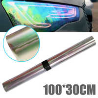 Auto Car Headlight Taillight Tint Vinyl Film Sticker 100x30CM Tint Film Chameleon Oil Slick for Motorcycle Whole Car Decoration