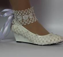 26937abbb Riband tornozelo lace up moda luxo marfim rendas sapatos de noiva rendas  artesanais de casamento pérolas noivas noiva de volta r.