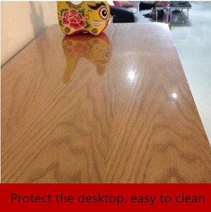 Image 3 - Film adhésif Transparent pour meubles, film de protection en bois massif, pour table de cuisson, autocollants pour table et table