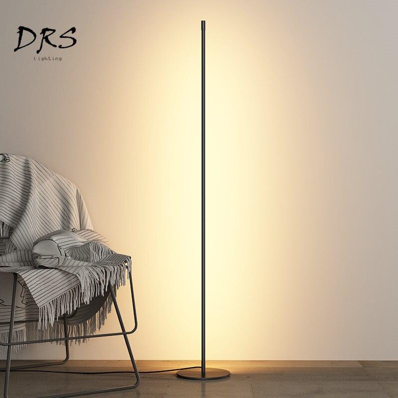 Modern Minimalist LED Floor Lamps Creative Standing Lamps for Living Room Led Black Metal Luminaria Standing Lamps Lamparas De