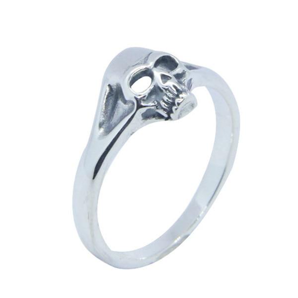 925 Silver Crowned skull ring,bikers ring,handmade rebel punk rock Satan demonic silver jewelry,Skull valentine Ring,Gothic Ring,