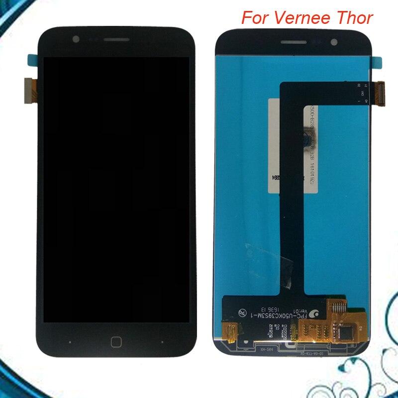 Haute Qualité Pour Vernee Thor D'écran Tactile D'affichage D'affichage à CRISTAUX LIQUIDES D'assemblage Verre 1280*720 Remplacement D'assemblée D'écran D'AFFICHAGE À CRISTAUX LIQUIDES