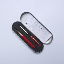 New Style Luxury Metal Double Nib Fountain Pen9128 0.5mm Iraurita The Good Gift ink Pen For Friend Office & School Supplies