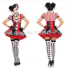Free Shipping Harley Quinn Costume Fantasia Halloween Fantasias Women