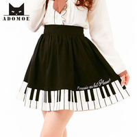 2014 Piano Keyboard Printed Skirts Women S All Match Sweet A Line Skirt Printed Embroidery Short