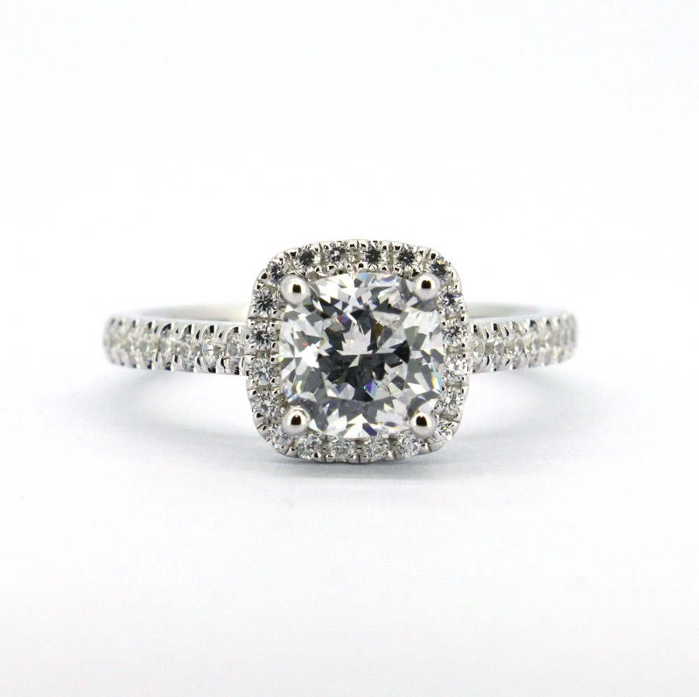 Wellmade Solid 925Sterling Silver CZ Wedding Engagement Ring цена и фото
