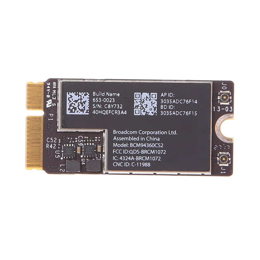 New Wireless-AC BCM94360CS2 Wifi Bluetooth Card For 13 Macbook Air A1465 MD760 / A1466 MD760 MD761