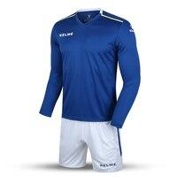 Kelme k16z2004l nam giới mùa thu dài tay áo mỏng đào tạo ban ánh sáng đội tuyển bóng đá jersey phù hợp với màu xanh trắng 2016 bán buôn