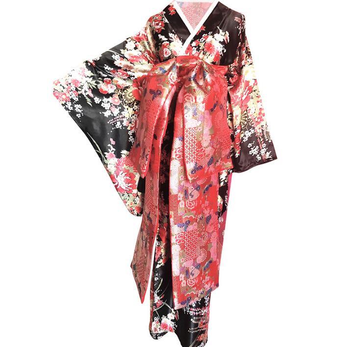 Japanese Custom Made Kimono Plum Flower Costume Beautiful Woman Dress Japanese Performance Kimono Woman Shoot Clothing