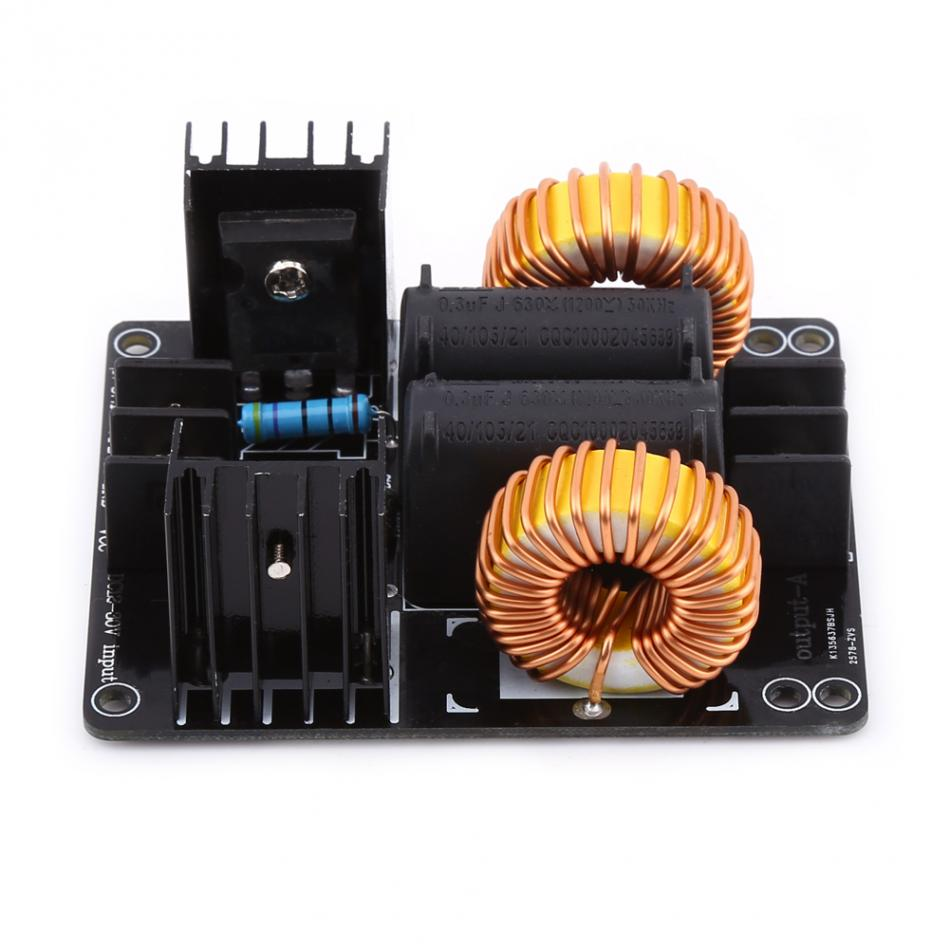 DC12-30V 20A 1000W ZVS Power Supply Driver Board Induction Heating Module Heater Driver Module Copper Wire zvs high frequency induction heating 1800w high frequency machine without tap zvs