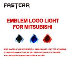 1pcs Car Front Rear Emblem Logo Light for Mitsubishi Lancer Lioncei Car Badge Red White Blue Led Lamp Bulb Free Shipping