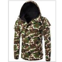 Hooded Winter Men's Coats Plus Size XXXL Camouflage Printed Mens Parka European Windbreaker Overcoats Military Mens Jacket B144