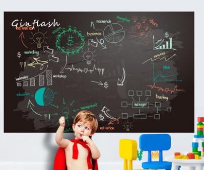 Creative 45x100cm Chalk Board Blackboard Vinyl Draw Chalkboard 45*100CM Wall Sticker Office Supplies