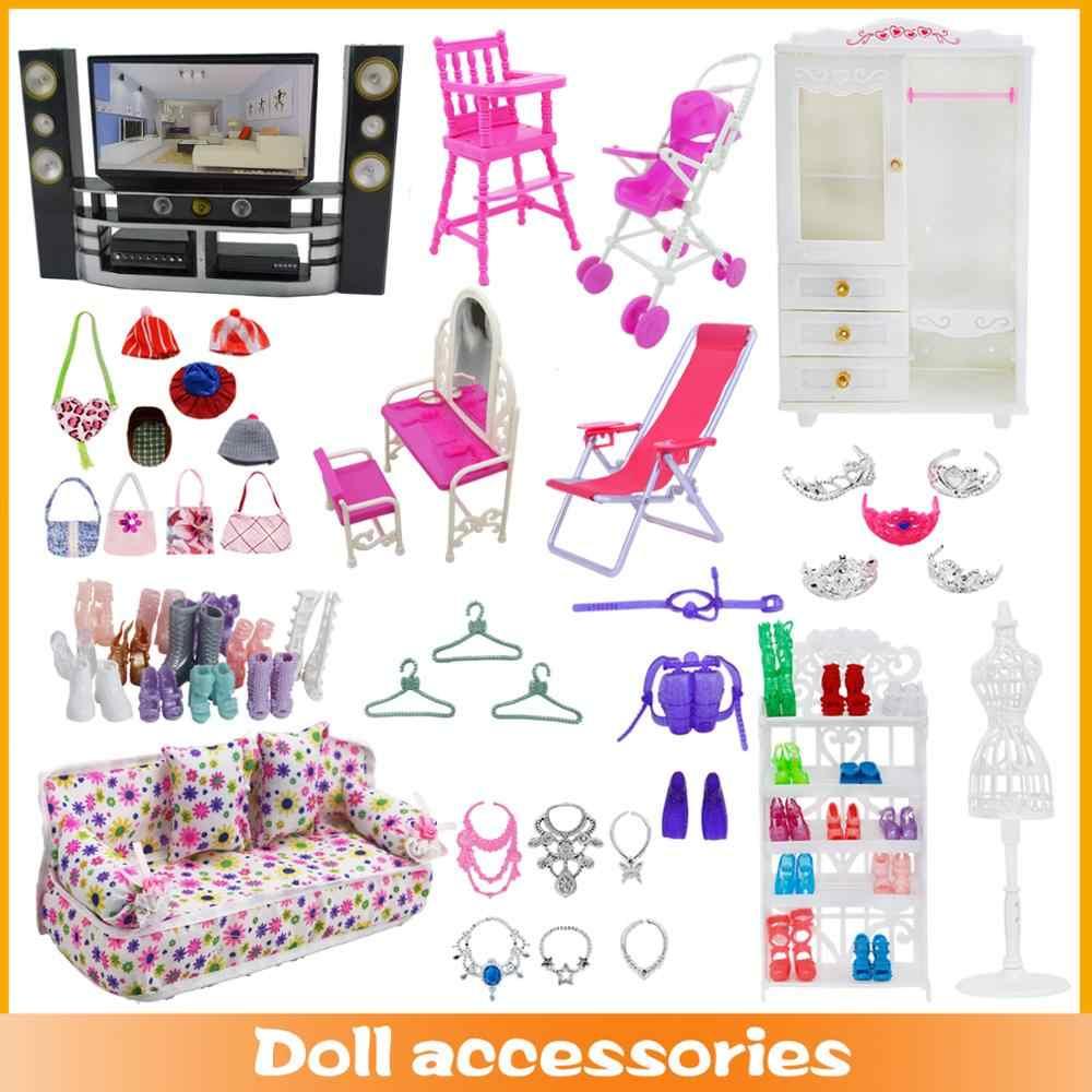 Смешанная кукла аксессуары вариант обуви/шкаф для обуви белый стеллаж диван с отсеком для хранения платья кукольный домик мебель для Барби Кукла