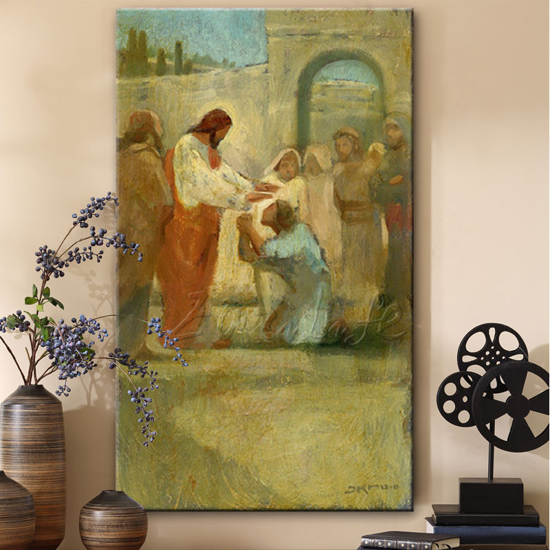 Jesus Christ Jesus Canvas Posters and Prints Wall Art Pictures for living room Home Decor cuadros decoracion Oil painting 0009