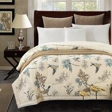 1 шт., хлопковое покрывало с милой птичкой/летнее одеяло, пододеяльник/150x200 см и 200x230 см, хлопковое покрывало для кровати 50