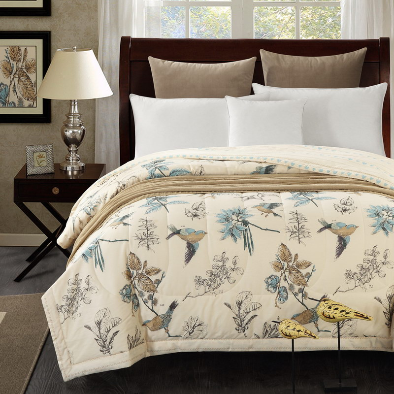 1PCS Cotton The Lovely Bird Bedspread/summer Blanket Duvet Quilt/150x200cm And 200x230cm Cotton Bed Cover50