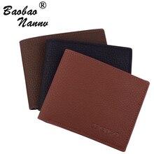 Short Wallet Men Leather Wallets Male So