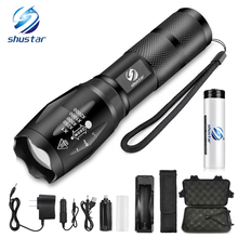 hot deal buy super bright led flashlight portable outdoor lighting tools 5 lighting modes torch waterproof aluminum alloy for camping, etc