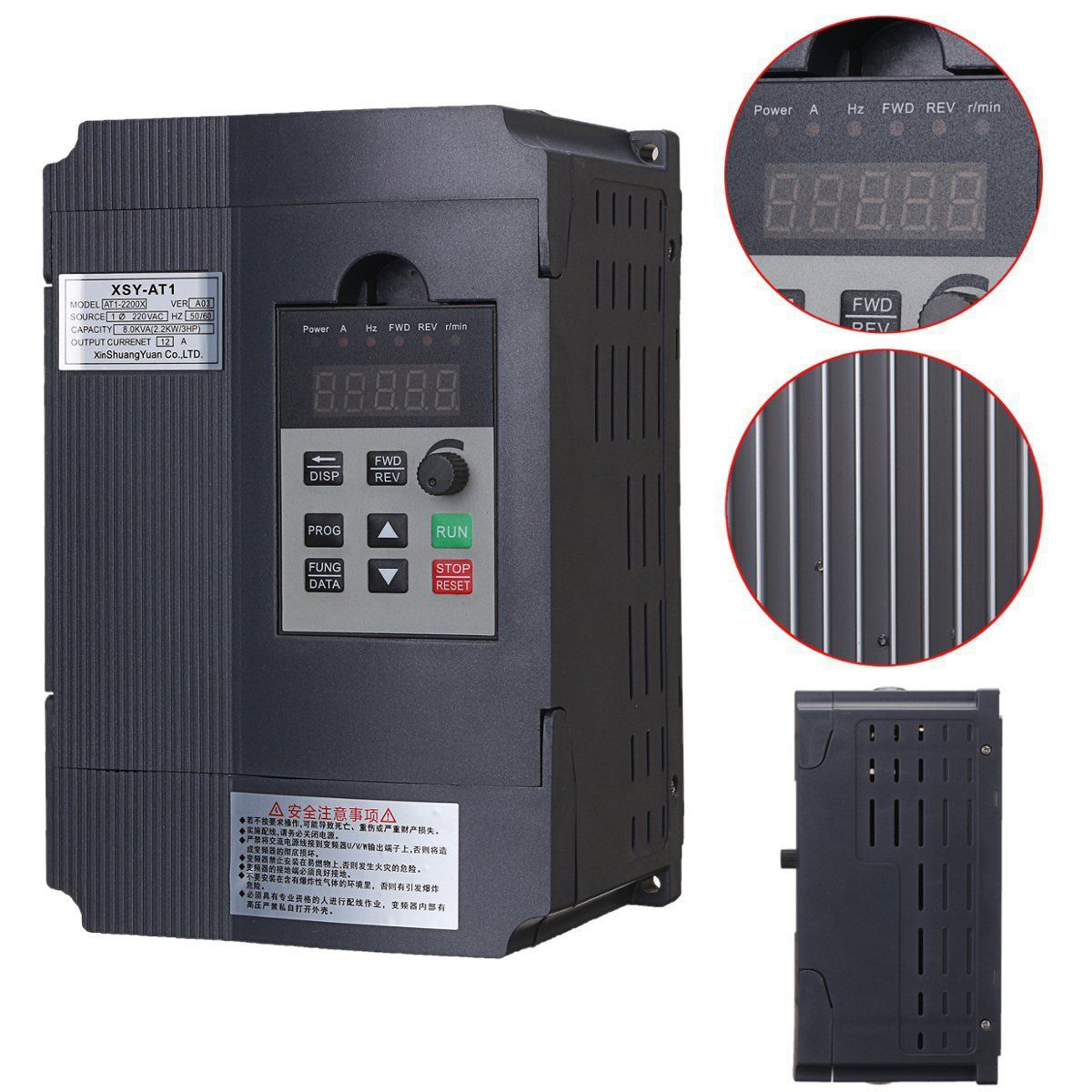 2.2KW 12A 3HP Single Phase Variable Frequency Inverter Mayitr Speed Control Drive Inverter VSD VFD PWM Control панель декоративная awenta pet100 д вентилятора kw сатин