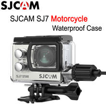 SJCAM SJ7 Motorcycle Waterproof Case with Charge Cable for SJCAM SJ7 Star Action Sport Camera for Motorcycle Helmet Sport