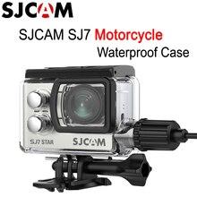 SJCAM funda impermeable para motocicleta SJ7, con Cable de carga para SJCAM SJ7, cámara deportiva de acción de estrella para casco de motocicleta