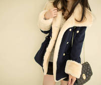 Ms. Winter new Slim was thin big yards breasted woolen coat women dress cheap clothes china Fashion sexy clothing