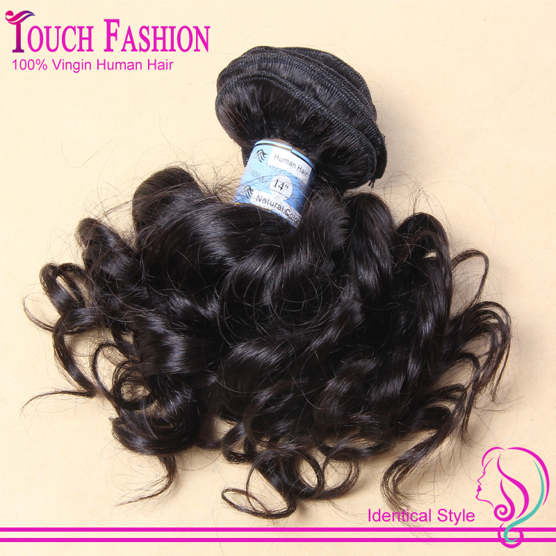 New Style Virgin Brazilian Remy Human Hair Clip In Extensions 7pieces Full Head #1b Natural Bouncy curly Free Shipping