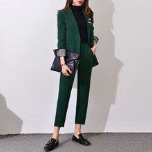 2017 New Formal Suits for Women Office Business Suitspants Work Wear Sets Uniform Styles Elegant Pant Suits no2 J17CT0003