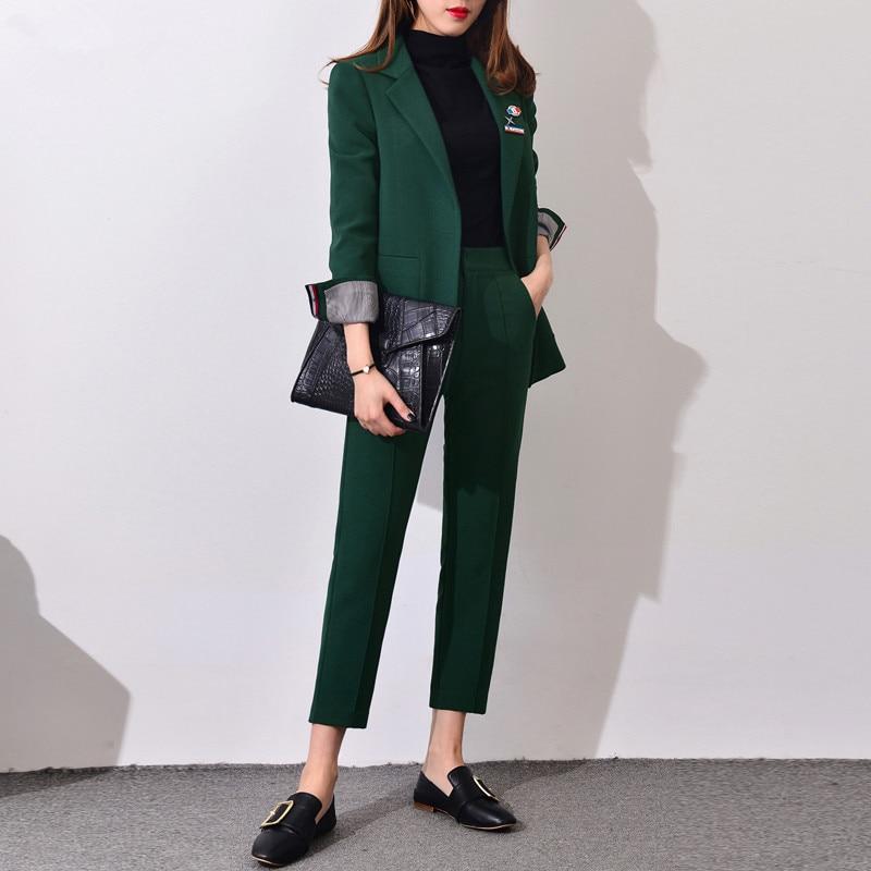 2019 Nuevos trajes formales para mujeres Trajes de negocios de - Ropa de mujer