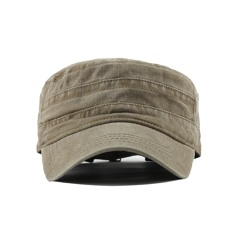 [FLB] 2019 Classic Vintage Flat Top Mens Washed Caps And Hat Adjustable Fitted Thicker Cap Winter Warm Military Hats For MenF314 2