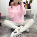 Female New Thickened round neck Loose Knit Sweater