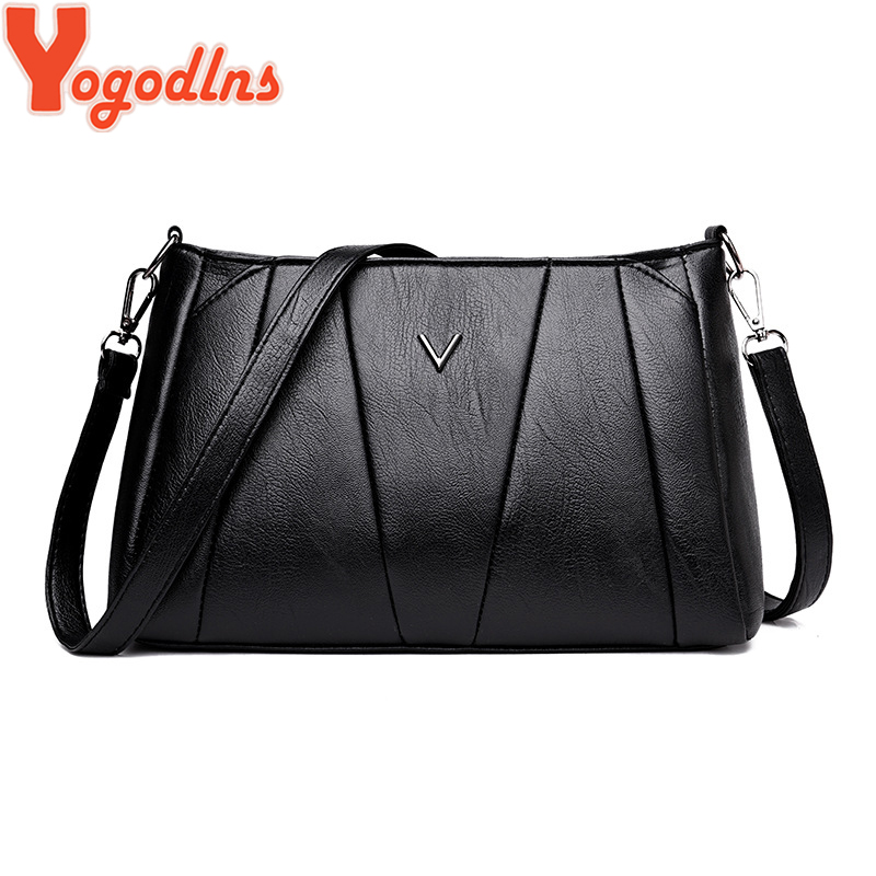 Yogodlns Women PU Leather Messenger Bag Small Handbags Simple Style Shoulder Bags Crossbody Bag Clutch Purse