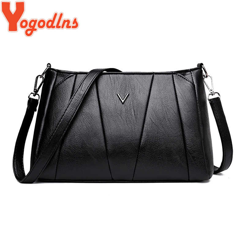 Yogodlns نساء بو الجلود صندوق مربع أسود صغير بسيط نمط الكتف حقيبة كروسبودي محفظة نمط بسيط