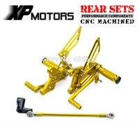 Золото ЧПУ гонки Rearset подножки регулируемая подножка для Honda NSR мини NSR80 все годы