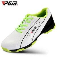 PGM מותג גברים נעלי ספורט לנשימה עמיד למים פטנט עור עור פרה מסמר פעילויות נגד החלקה אחיזה טובה עמיד גולף