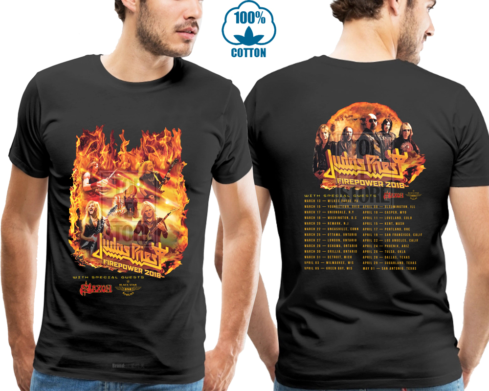 Detail Feedback Questions about New Judas Priest Fire Power Tour 2018 T  Shirt Men S Black Size S To 4Xl on Aliexpress.com  ea7567d6b