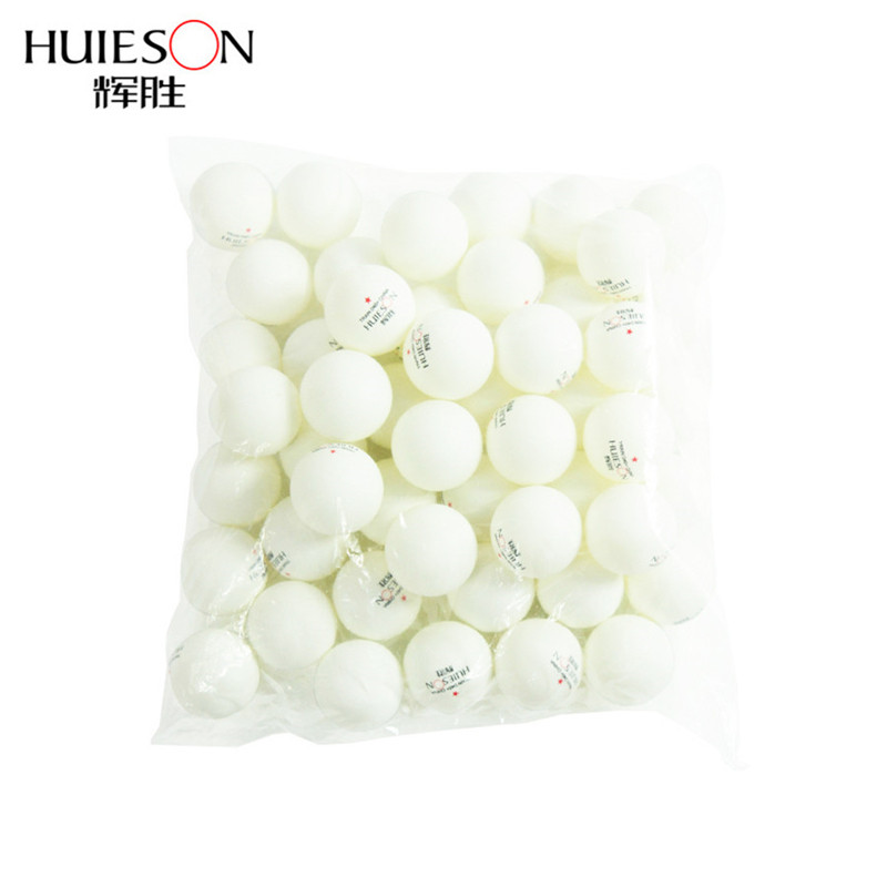 Huieson 100pcs/bag Table Tennis Balls Ping Pong Balls 40mm+ One Star New Material Training Balls For Teenagers 2 Colors