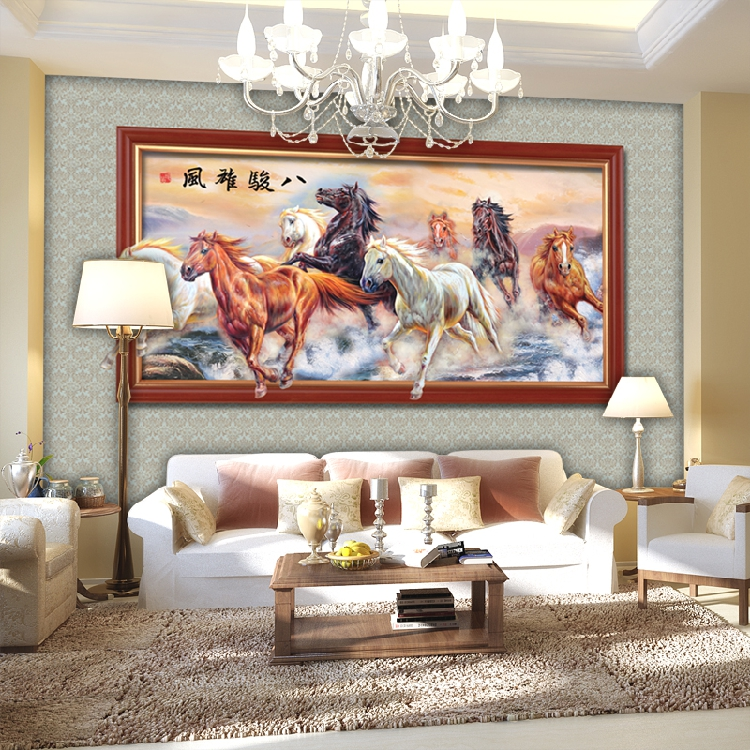 New art wall stickers Large 3d mural chinese style custom wallpaper living room tv sofa background wallpaper fabric horse figure 1897art large murals3d can be custom made furniture decorative wallpaper house ornamentation decor wall stickers chinese style