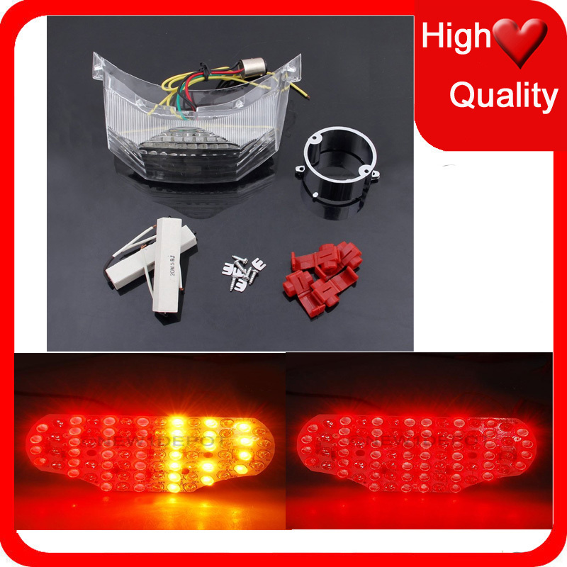 Motorcycle LED Brake Tail Light Turn Signal Accessory For <font><b>YAMAHA</b></font> FZ6 Fazer 600 Fazer600 2004 2005 2006 2007 2008 -2014 TailLight