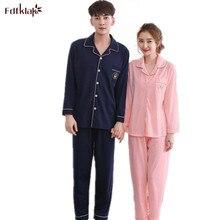 Autumn Winter New Long Sleeve Couple Pajamas Sleep & Lounge