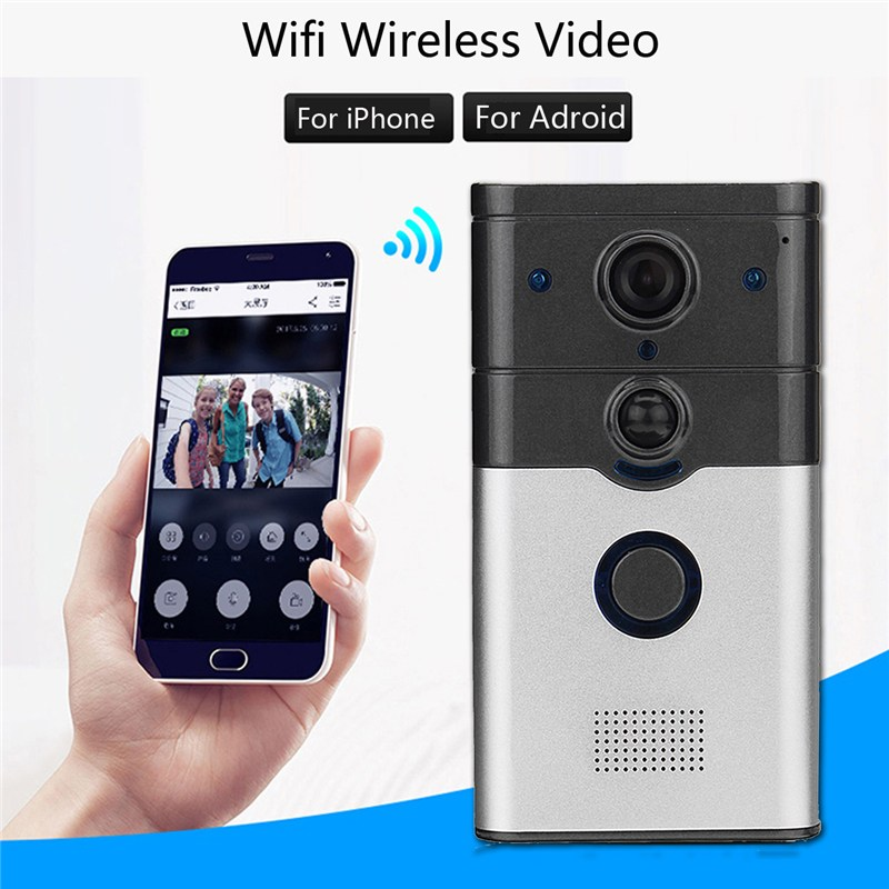 Wireless WiFi Smart Home HD Video DoorBell Camera Phone Ring Intercom System Doorbell Remote Control Intercom Alarm Security zilnk video intercom hd 720p wifi doorbell camera smart home security night vision wireless doorphone with indoor chime silver